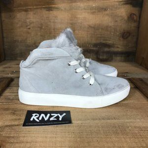 Jaggar Leather High Top Gray Sneaker